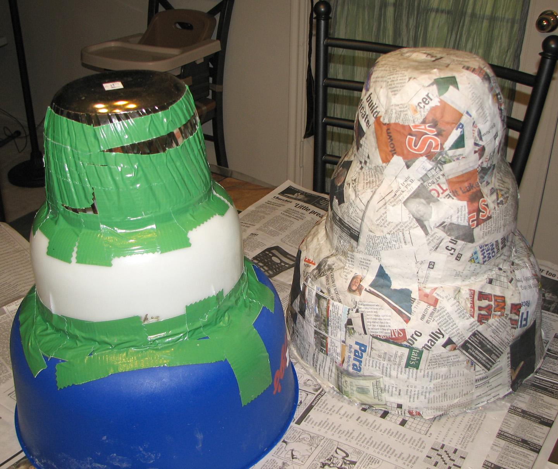 Paper Mache Wedding Cake